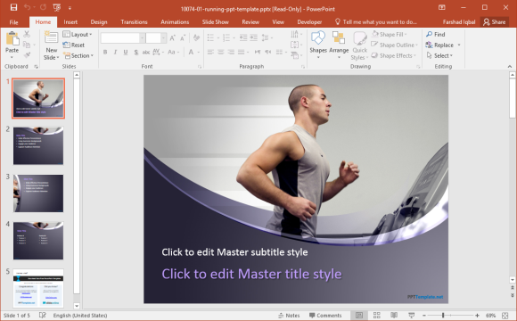 Free Running PowerPoint Templates