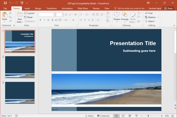 Free Seaside PowerPoint Template