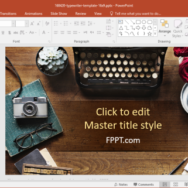 Free Typewriter PowerPoint Template