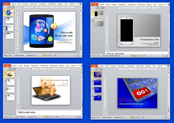 Free technology templates for PowerPoint presentations