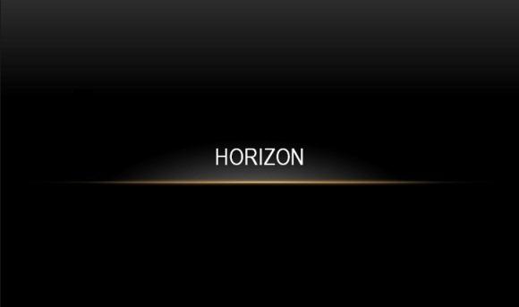amazing horizon template for powerpoint