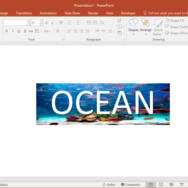 How to Add Image as Text Background in PowerPoint