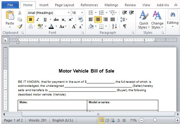 Impress Customers with Professionally Written Bill of Sale