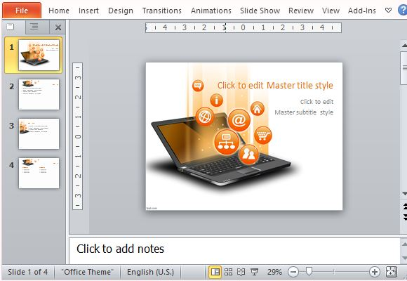 Laptop PowerPoint template