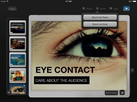 Make slides like PowerPoint on iPad