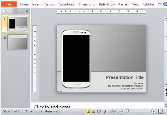 Moble apps PowerPoint template