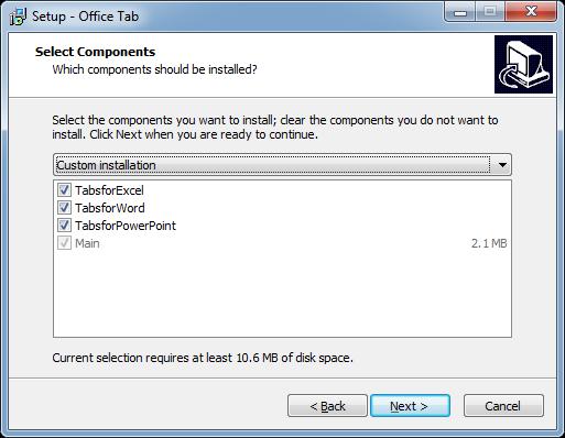 Office tabs plugin