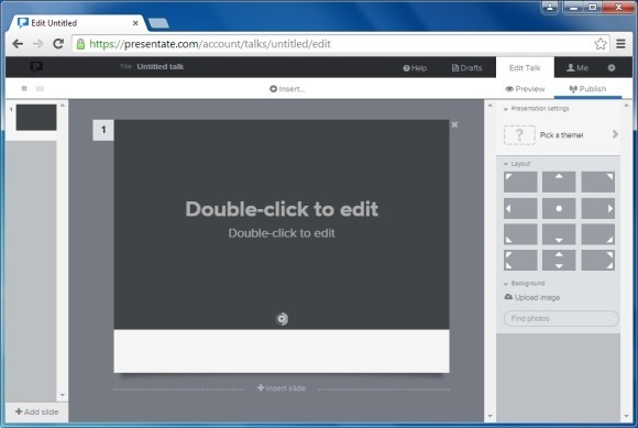 Presentation editor