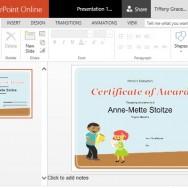 Printable Children's Award Certificate for PowerPoint Online