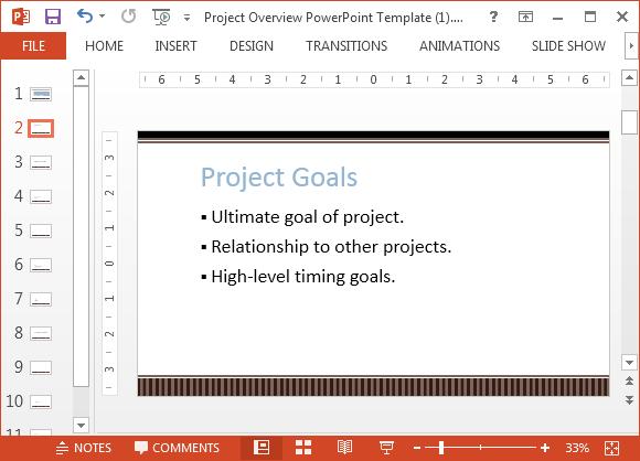 Project goals slide