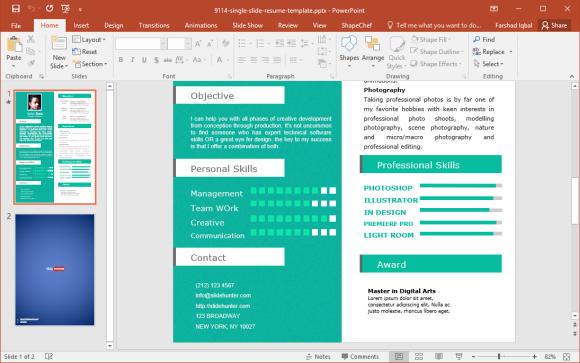 Resume in PowerPoint