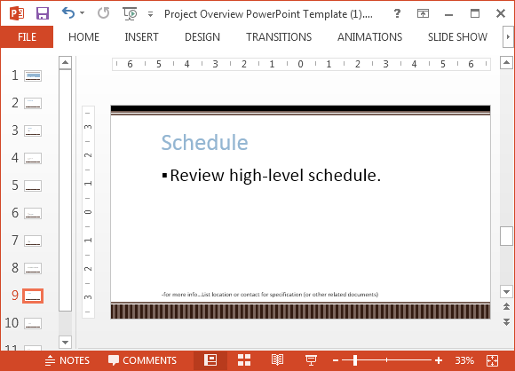 Schedule slide for proposal