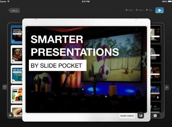 Select Slide Pocket template