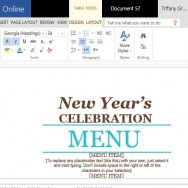 Sophisticated and Festive Menu Maker Template for Word