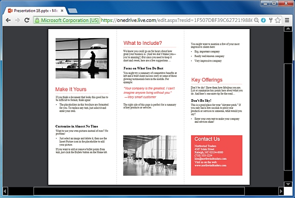 Tri-fold business brochure for PowerPoint