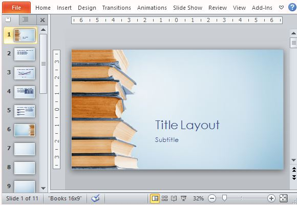 Visually Appealing Bookstack Template for PowerPoint
