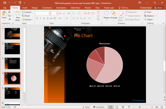 add-charts-to-photography presentation