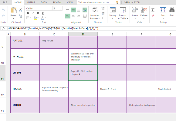 Weekly Task Planner Template from freeofficetemplates.com