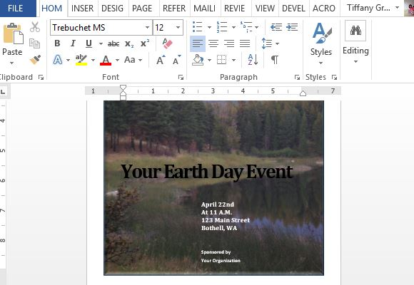 create-earth-day-event-flyers