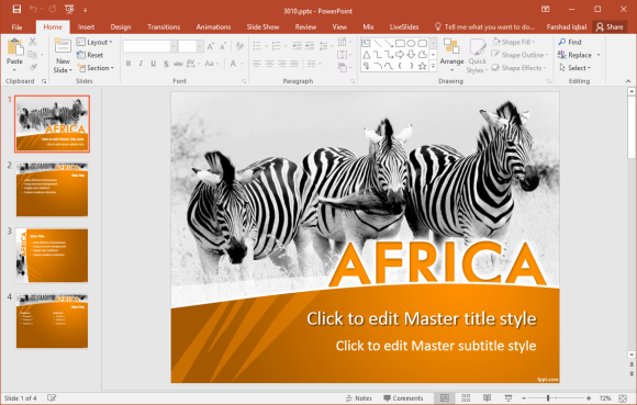 free africa powerpoint template