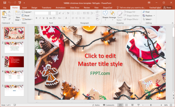Free Holiday Season Powerpoint Templates
