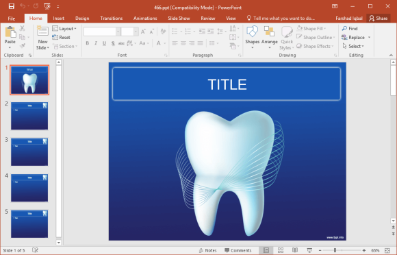 free tooth powerpoint template