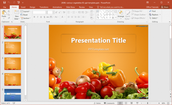 free-various-vegetables-powerpoint-template