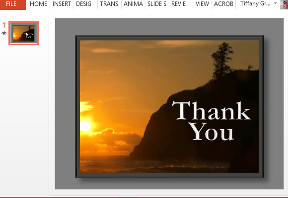 Thank You Animation Powerpoint Template