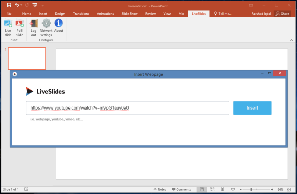 Embed Videos & Webpages in PowerPoint with LiveSlides