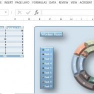 modern-3D-beveled-style-donut-chart-template-in-powerpoint