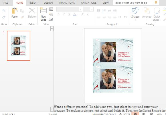 powerpoint-online-template-for-photocards-for-the-holidays