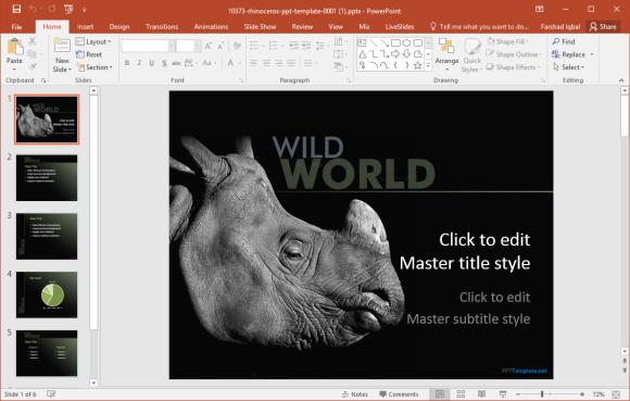 rhinoceros powerpoint template