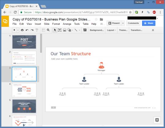 Free Business Plan Google Slides Template