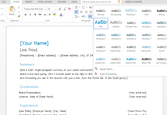 use-different-font-styles-and-formatting-to-customize-your-resume