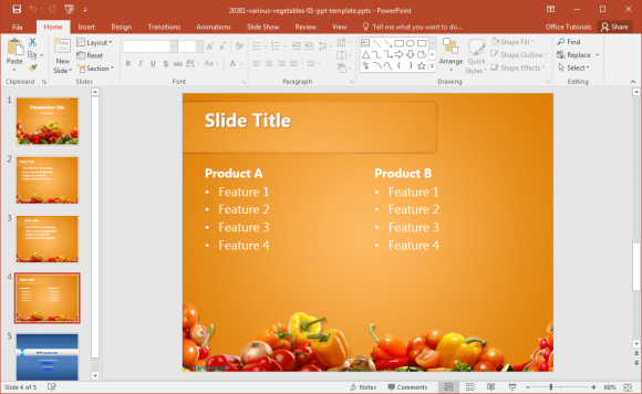vegetable-powerpoint-template